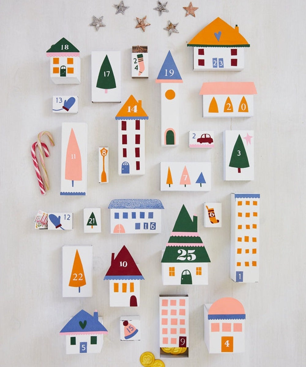 A printable DIY advent calendar from Emily Dawe Design on Etsy