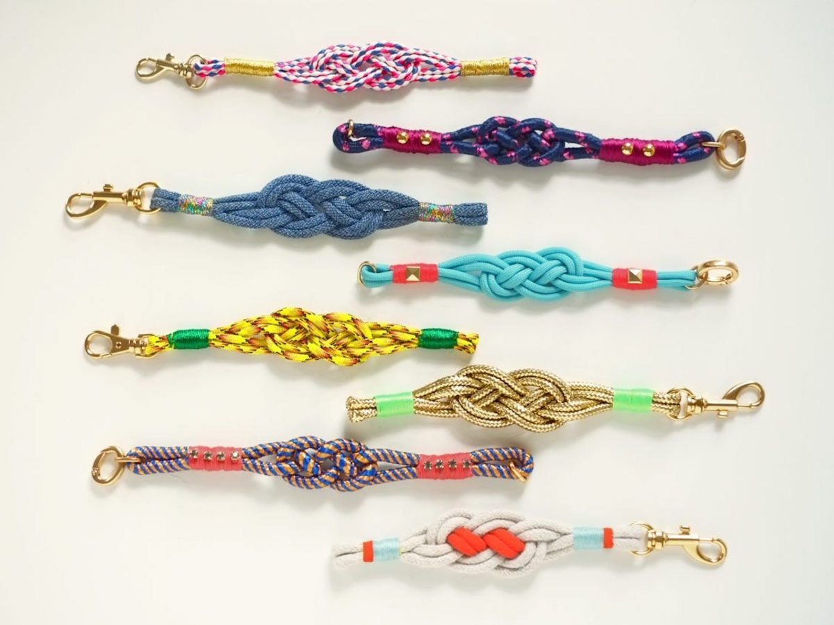 Nautical knot bracelets, made with tips from Etsy