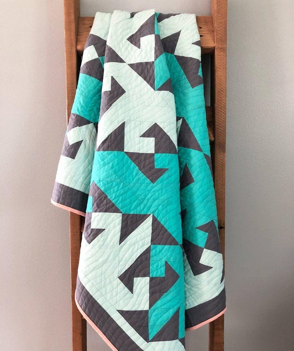 A nautical-inspired quilt pattern from Etsy