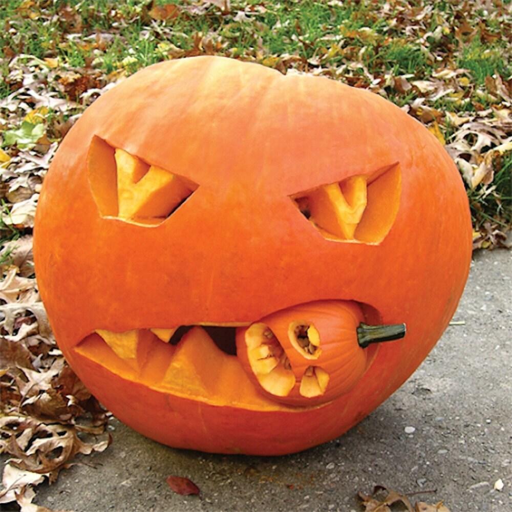 Cannibal jack-o-lantern tutorial for Halloween, on Etsy