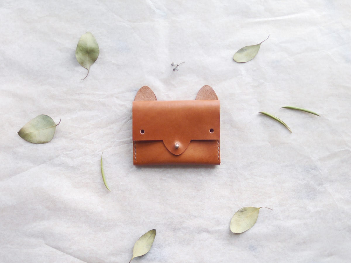A fox-shaped leather wallet from Small Queue