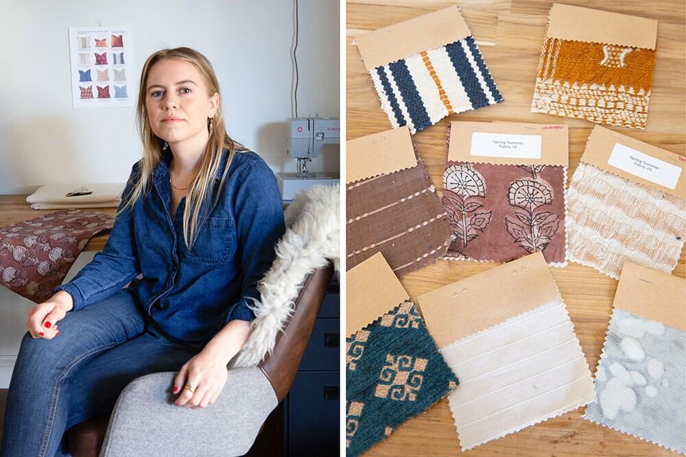 Shop Cocody creator Gillian Walsworth in her studio.