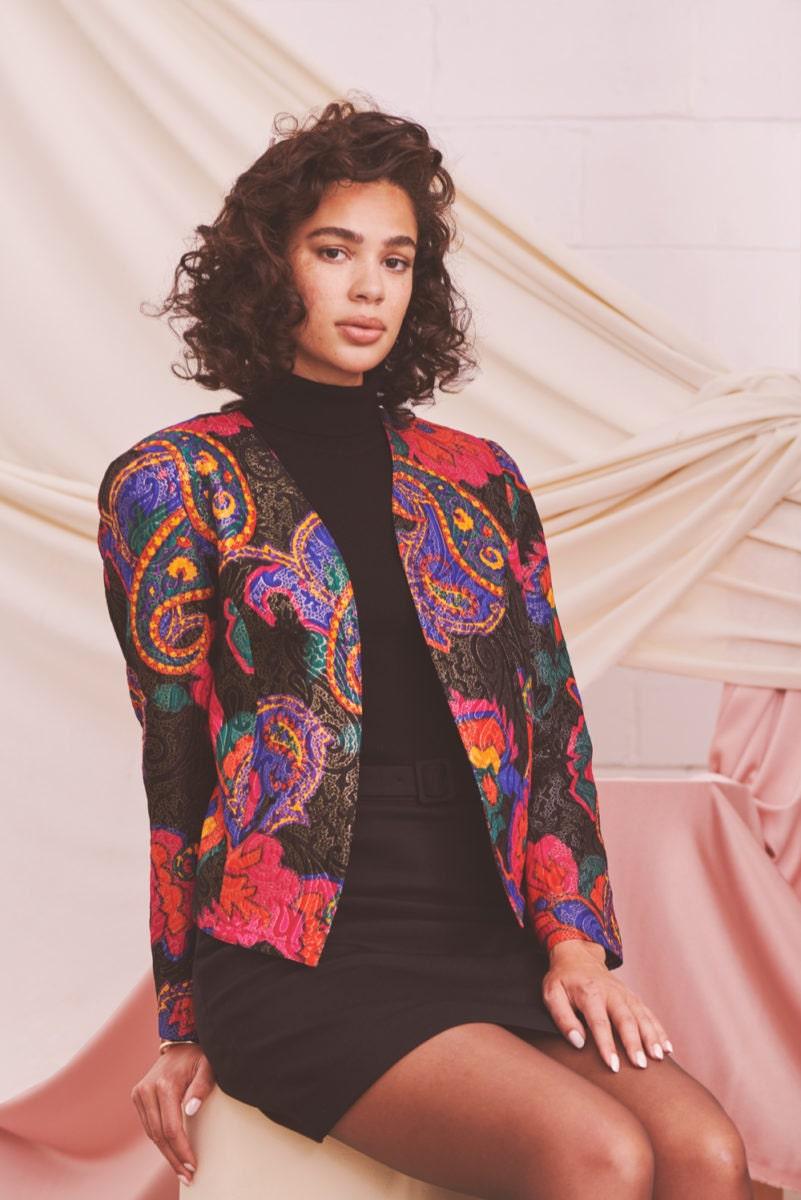 The Etsy Design Awards Vintage Category Winner: an embellished '80s blazer from Mary Brenda Akinyemi