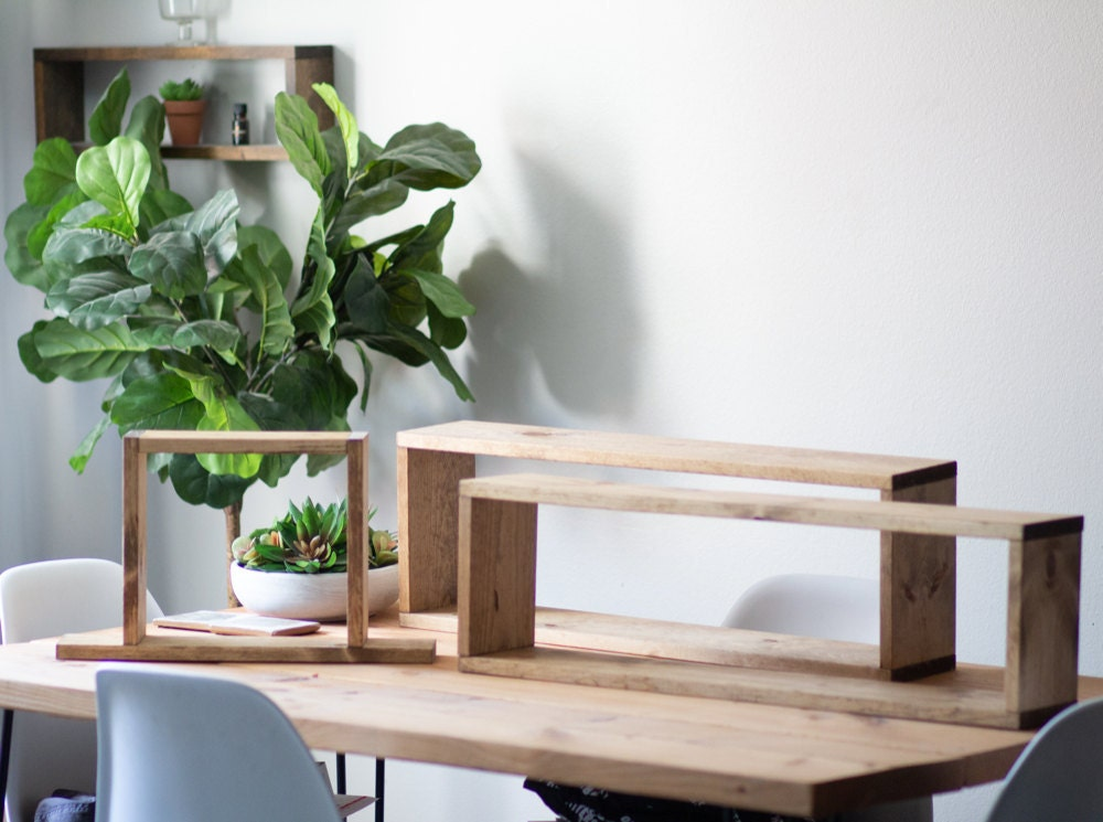 Assorted floating shelves from TheCraftySwirl, from $20