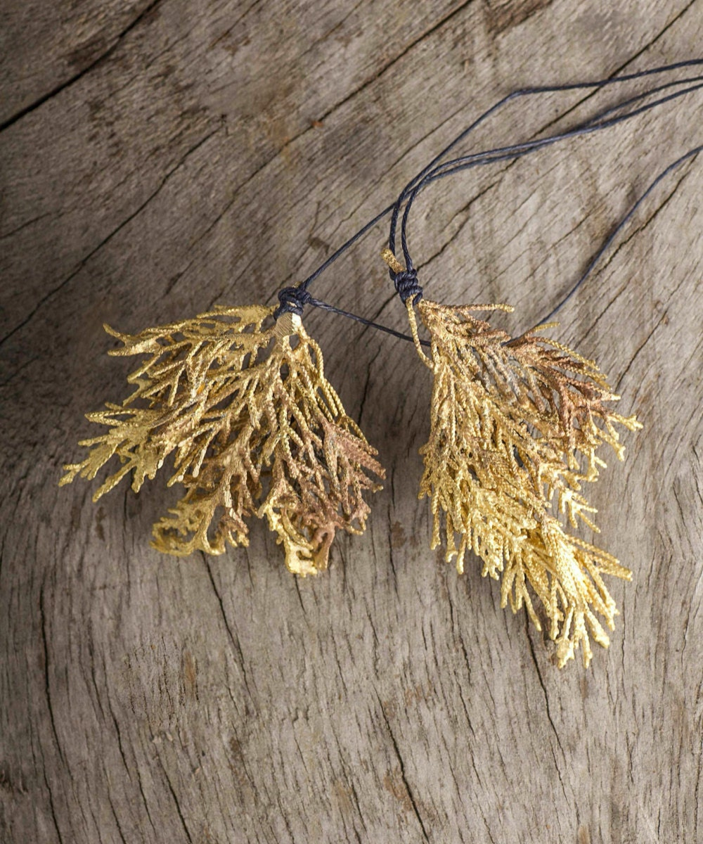 A cypress branch necklace from Mai Solorzano