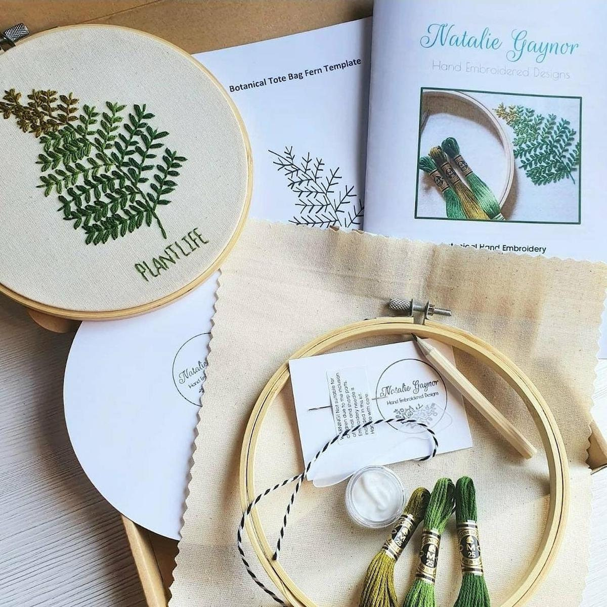 Botanical embroidery kit from Natalie Gaynor Designs and more of the best dad gifts on Etsy