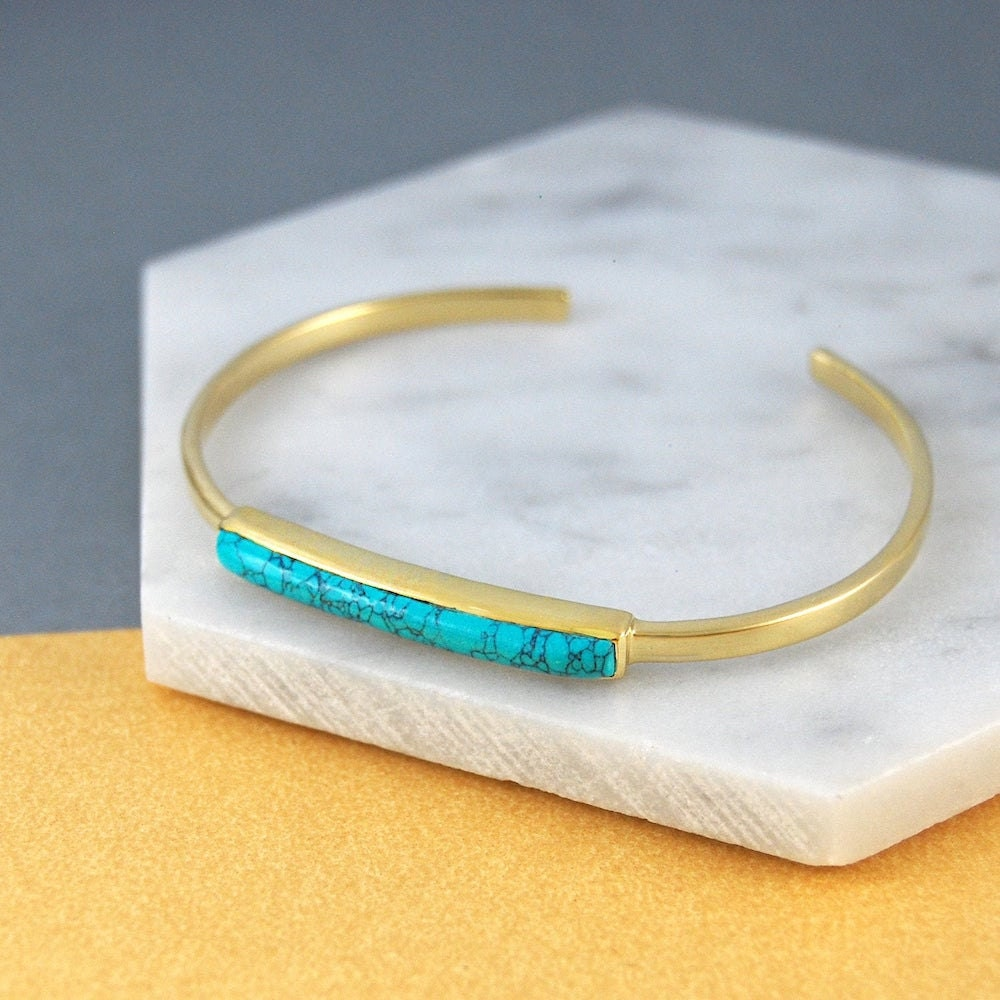 Turquoise bangle from Embers Gemstone Jewellery