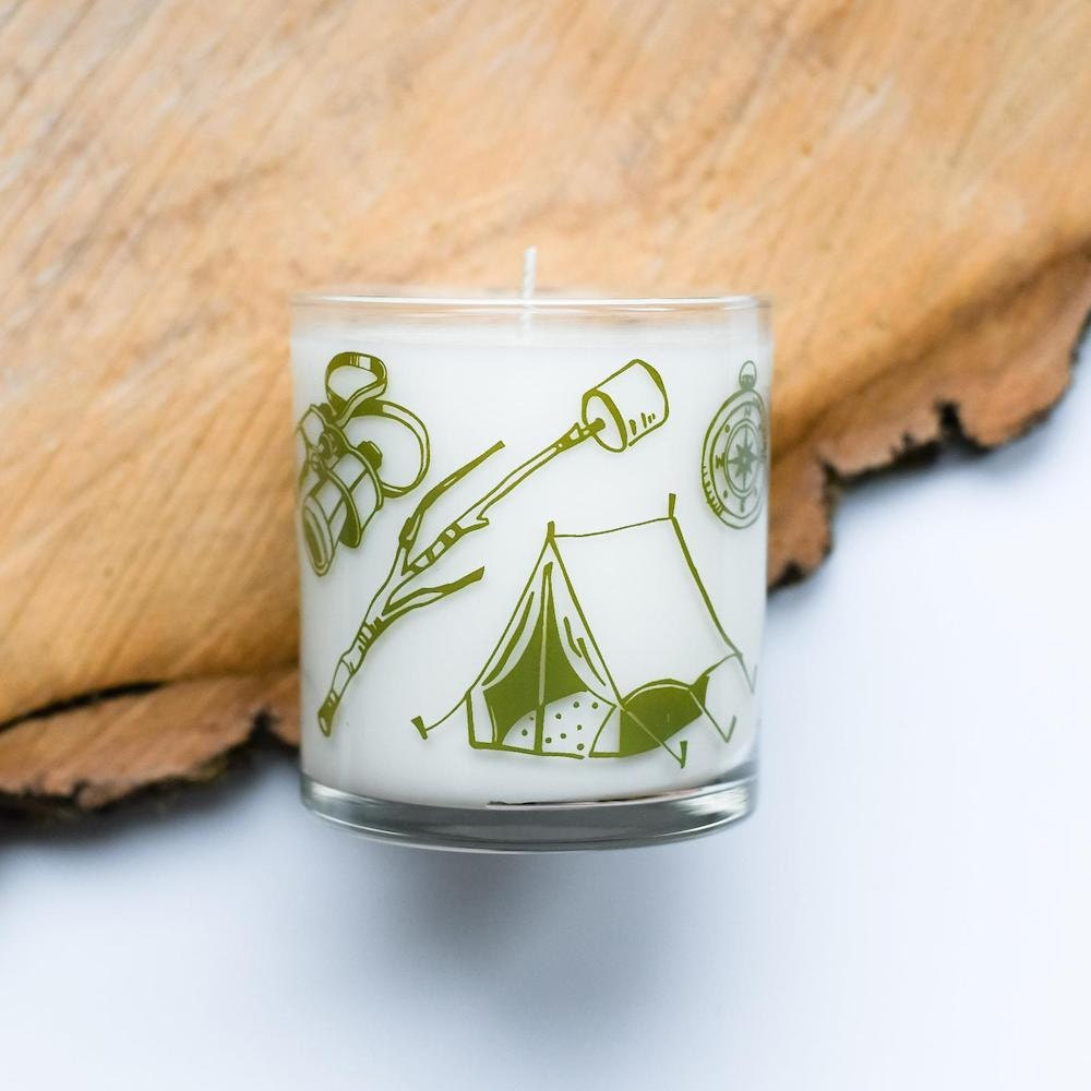 A camping tools candle from Vital Industries