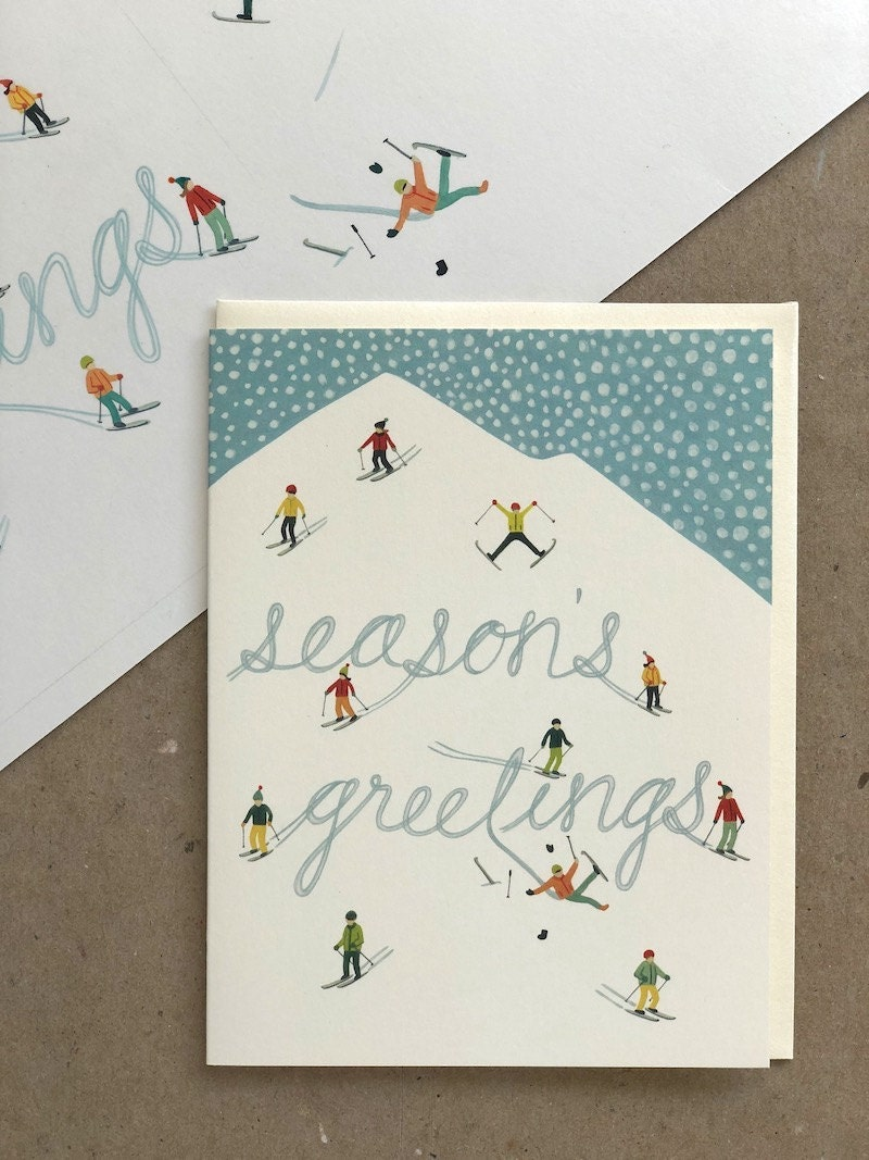 """""""Season's Greetings"""" holiday card from Yeppie Paper"""