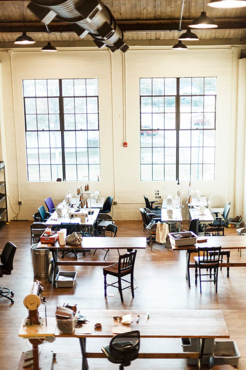 The Holtz Leather Co. workshop.