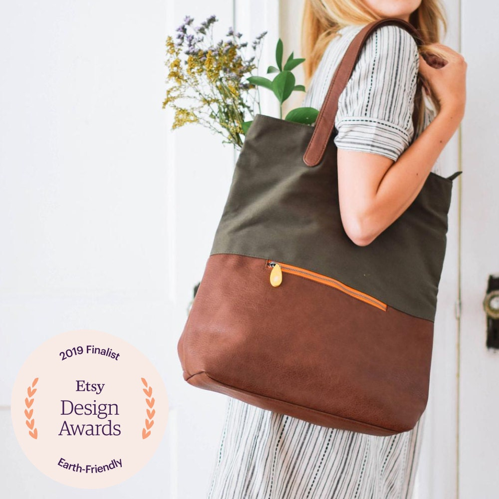 A vegan convertible backpack from Canopy Verde