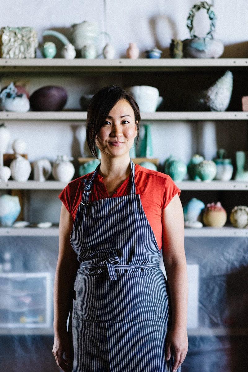 Portrait of Echo of Nature ceramist Yumiko Goto in her Cleveland, Ohio studio