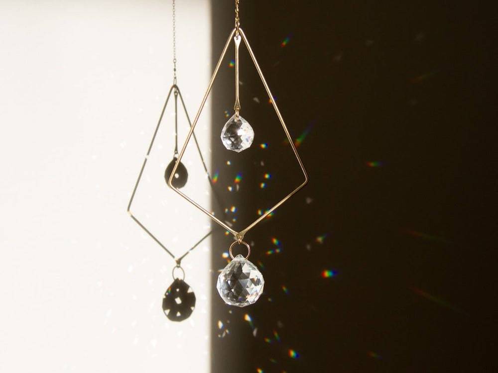 A prismatic hanging suncatcher from Sol Proano