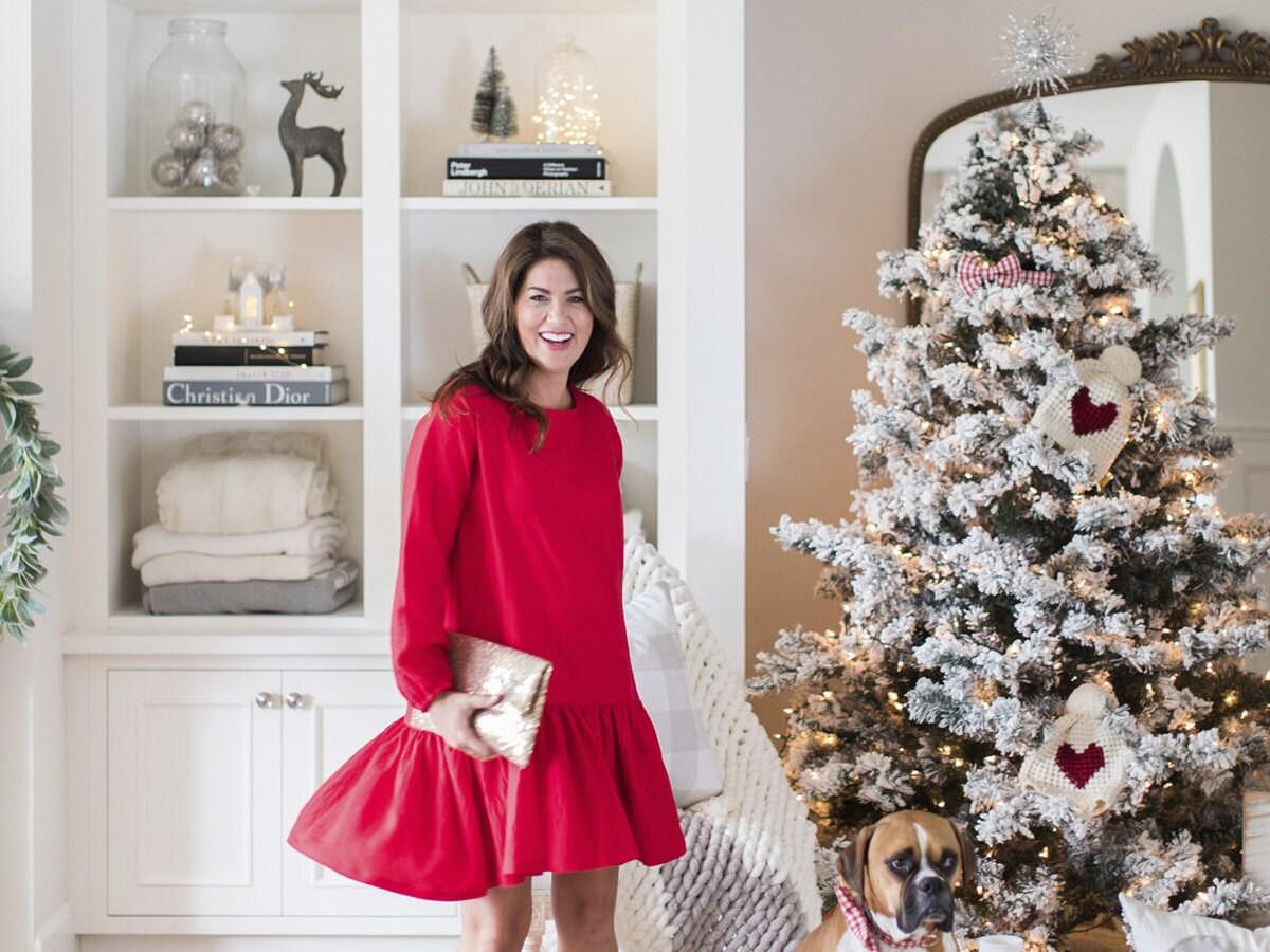 Jillian Harris and her Christmas tree