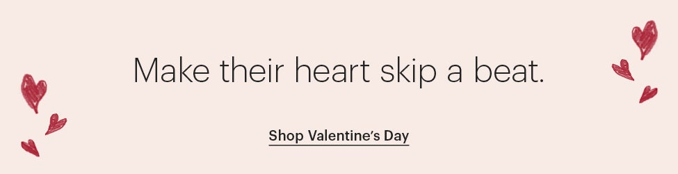 "Pink ""Make their heart skip a beat."" banner"