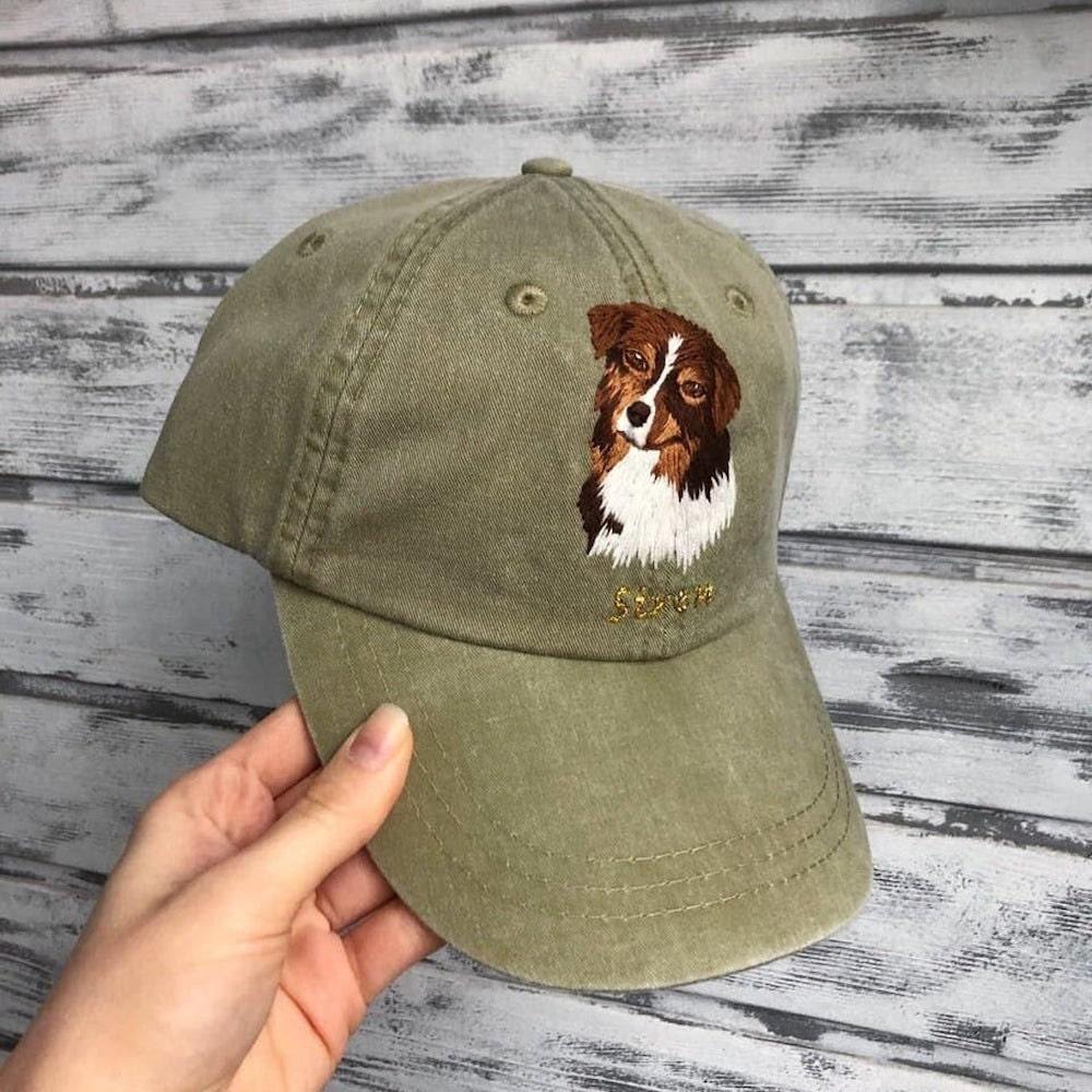 Custom pet embroidered fall fashion baseball cap from Kazkova Embroidery