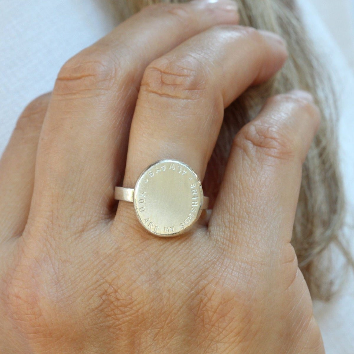 Personalized nugget statement ring from Soremi Jewellery