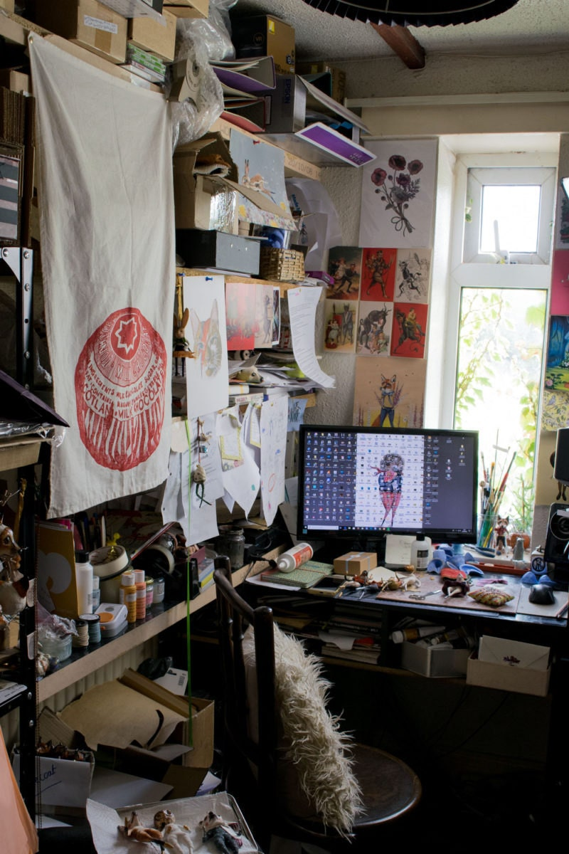 Kayleigh Radcliffe's desk and workspace