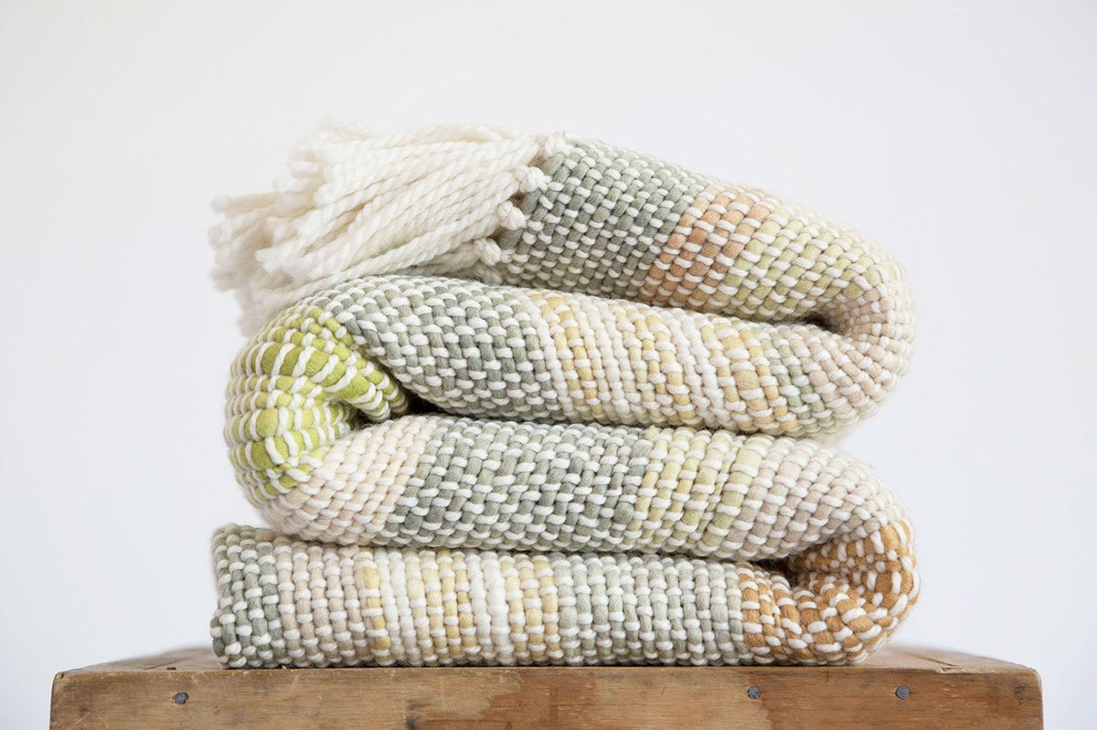 Woven blankets from Etsy