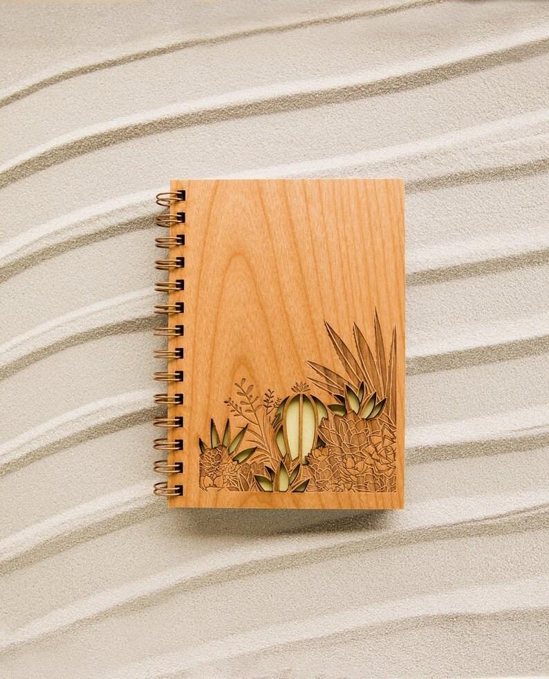 Wooden desert journal from Hereafter