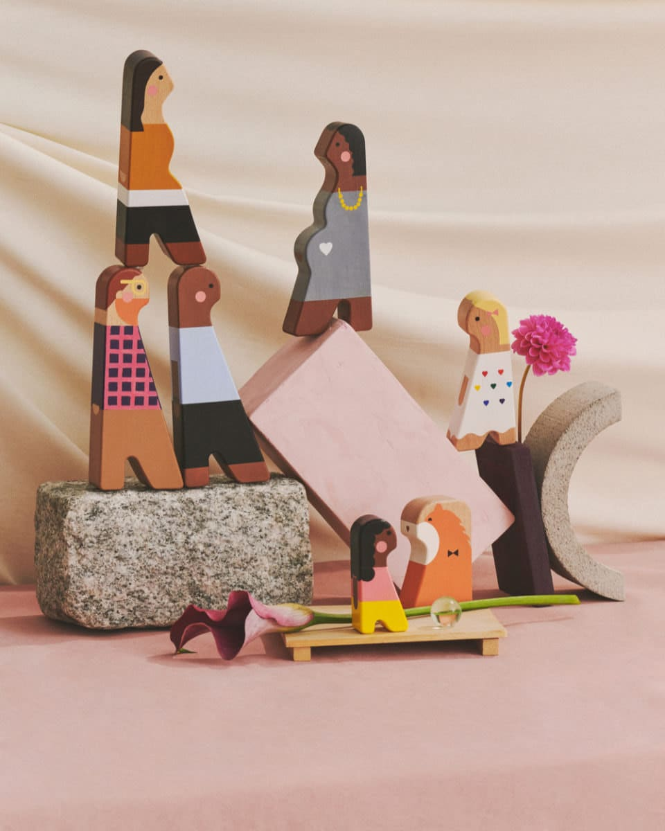 The Etsy Design Awards Kids Category Winner: personalized wooden dolls from My Mini Fam