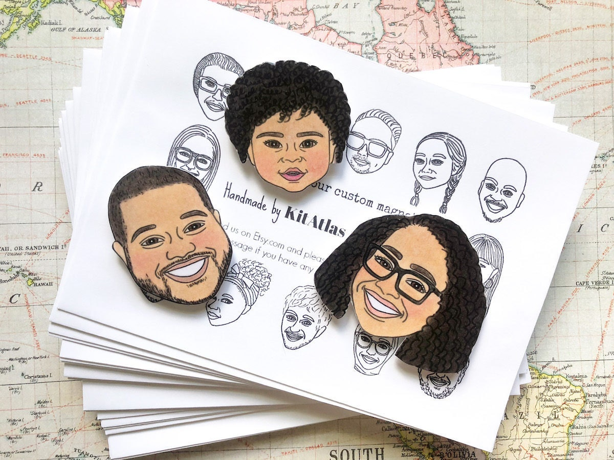 Custom family portrait magnets from Kit Atlas