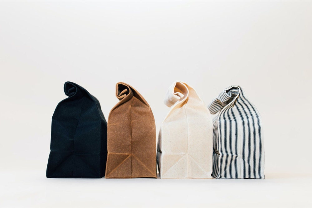 Waxed canvas lunch bags from WAAM Industries