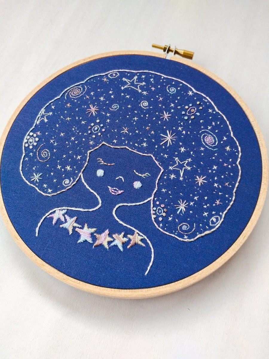 Galaxy Girl embroidery kit from Cozy Blue, $26