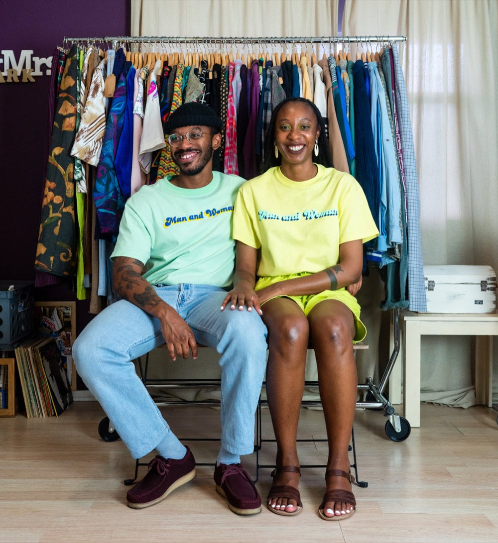 A portrait of MAW SUPPLY owners and vintage curators Rachelle and Norman Clark.
