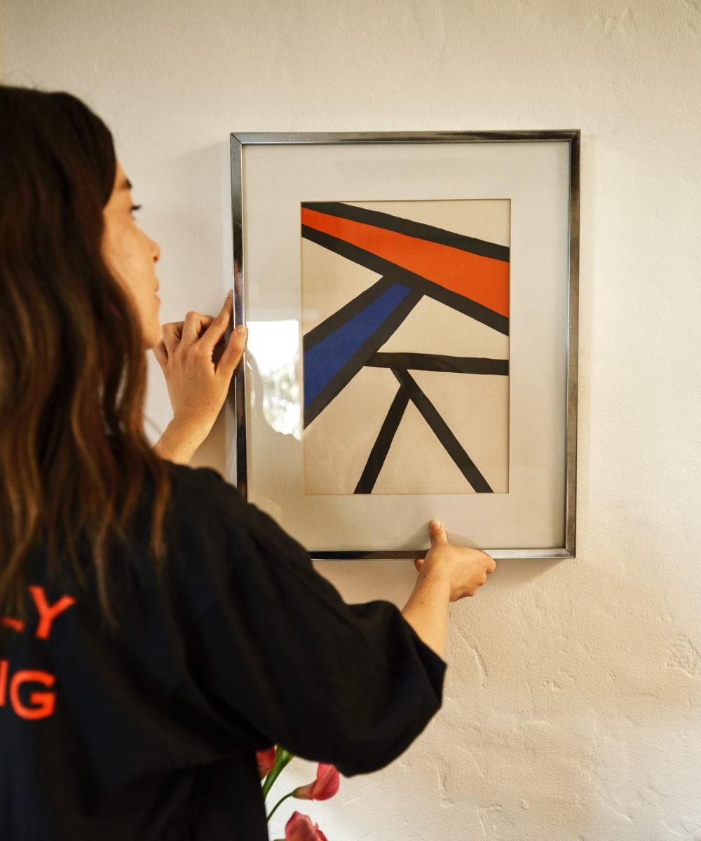 A vintage 70s abstract art print from Jeffery Stuart on Etsy.