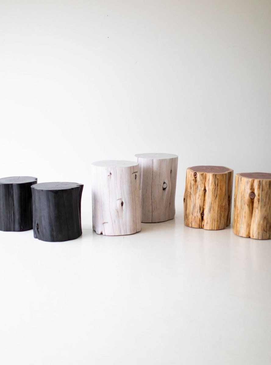 Large tree stump tables from Bertu Home