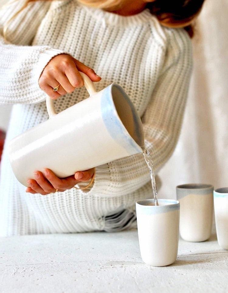 Ceramic water pitcher from Ingrid Debard Ceramics