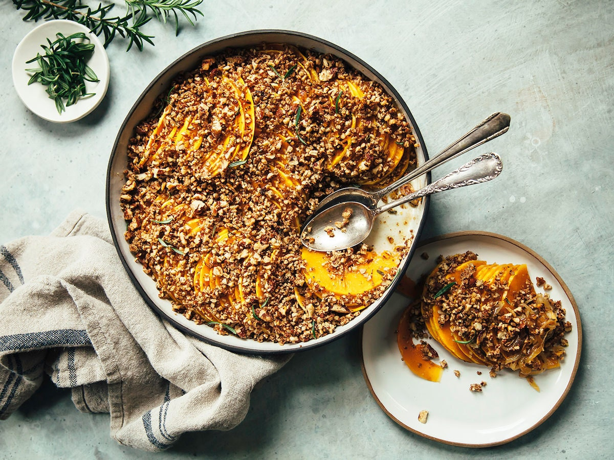 A savory-sweet squash gratin from Laura Wright of The First Mess
