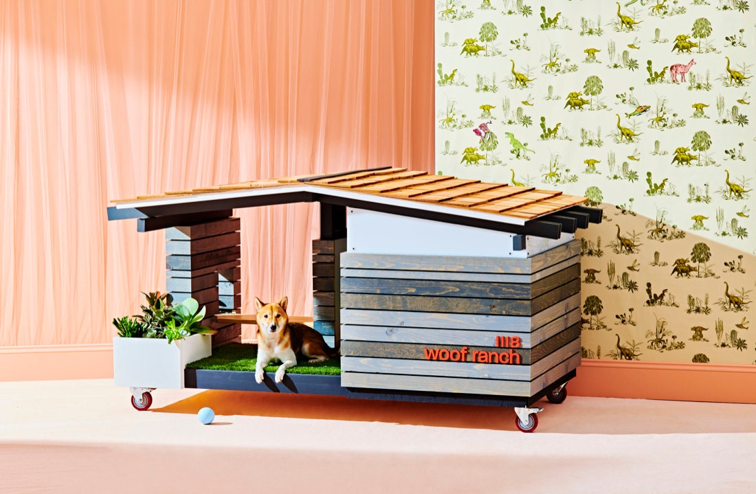Custom mid-century dog house from Pijuán Design Workshop, winner of the Creative Collaborations category.