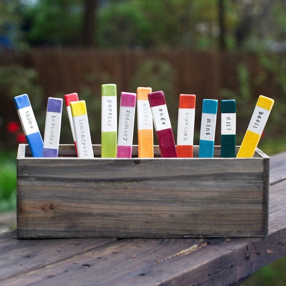 Ceramic garden markers from kjw creative