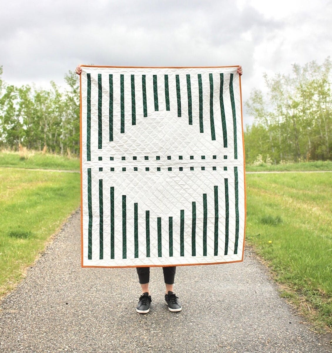 Minimalist quilt pattern from Etsy