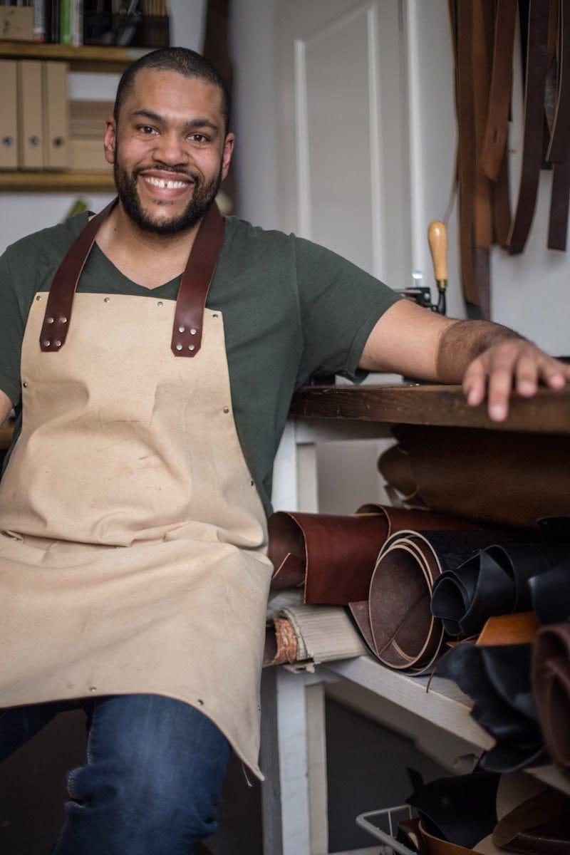 Portrait of Kingsley Leather owner Kingsley Thompson