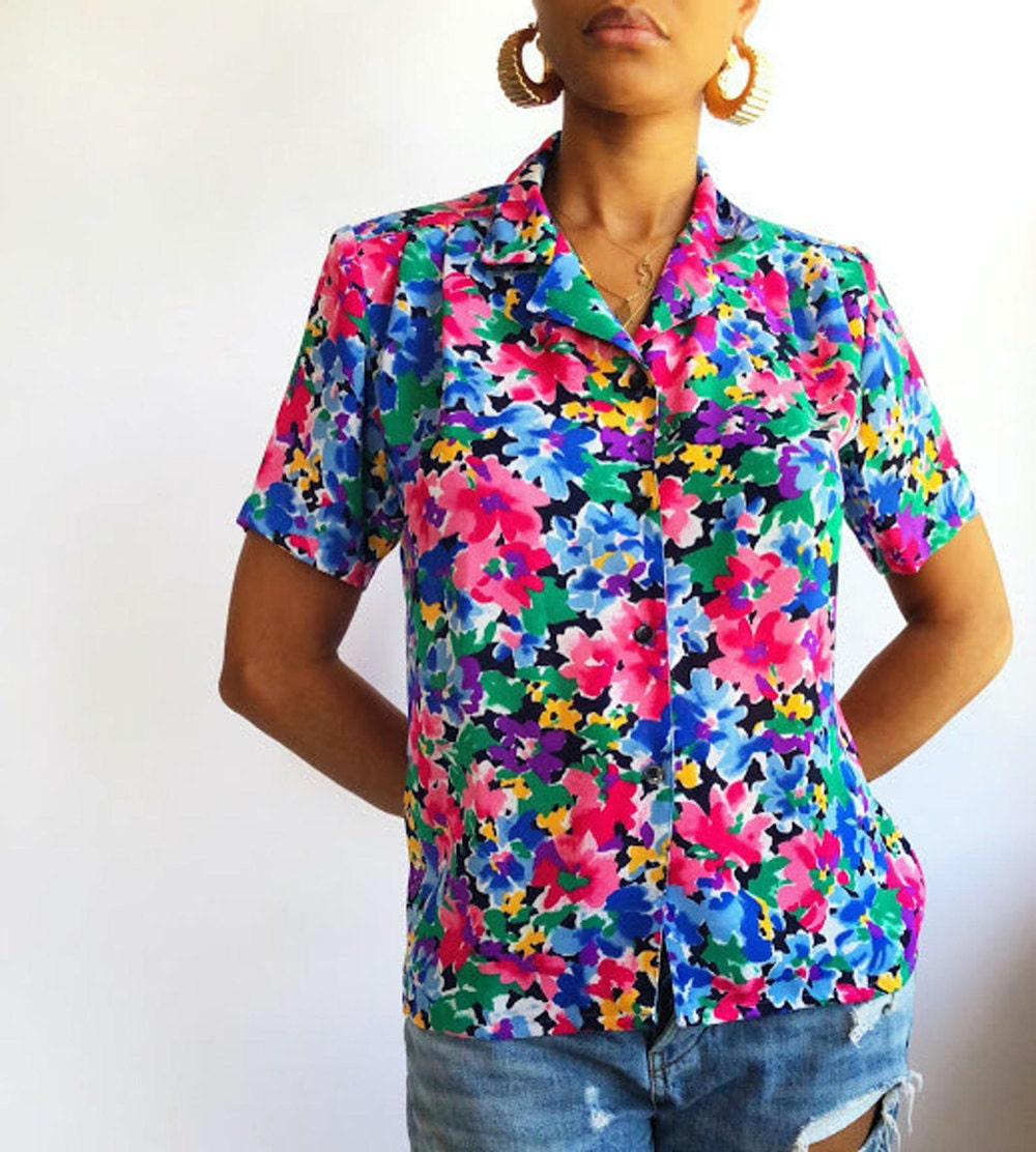 A vintage floral blouse from Threads of Habit