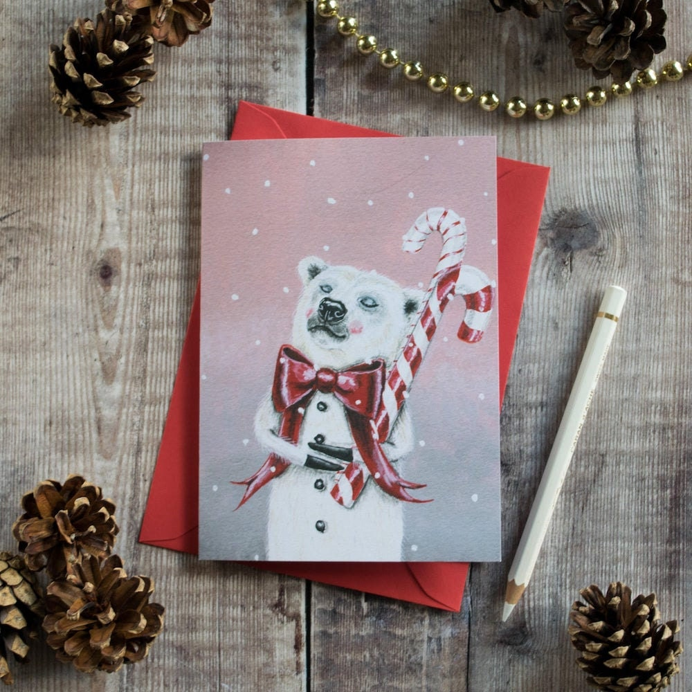Polar bear holiday card from Kayleigh Radcliffe