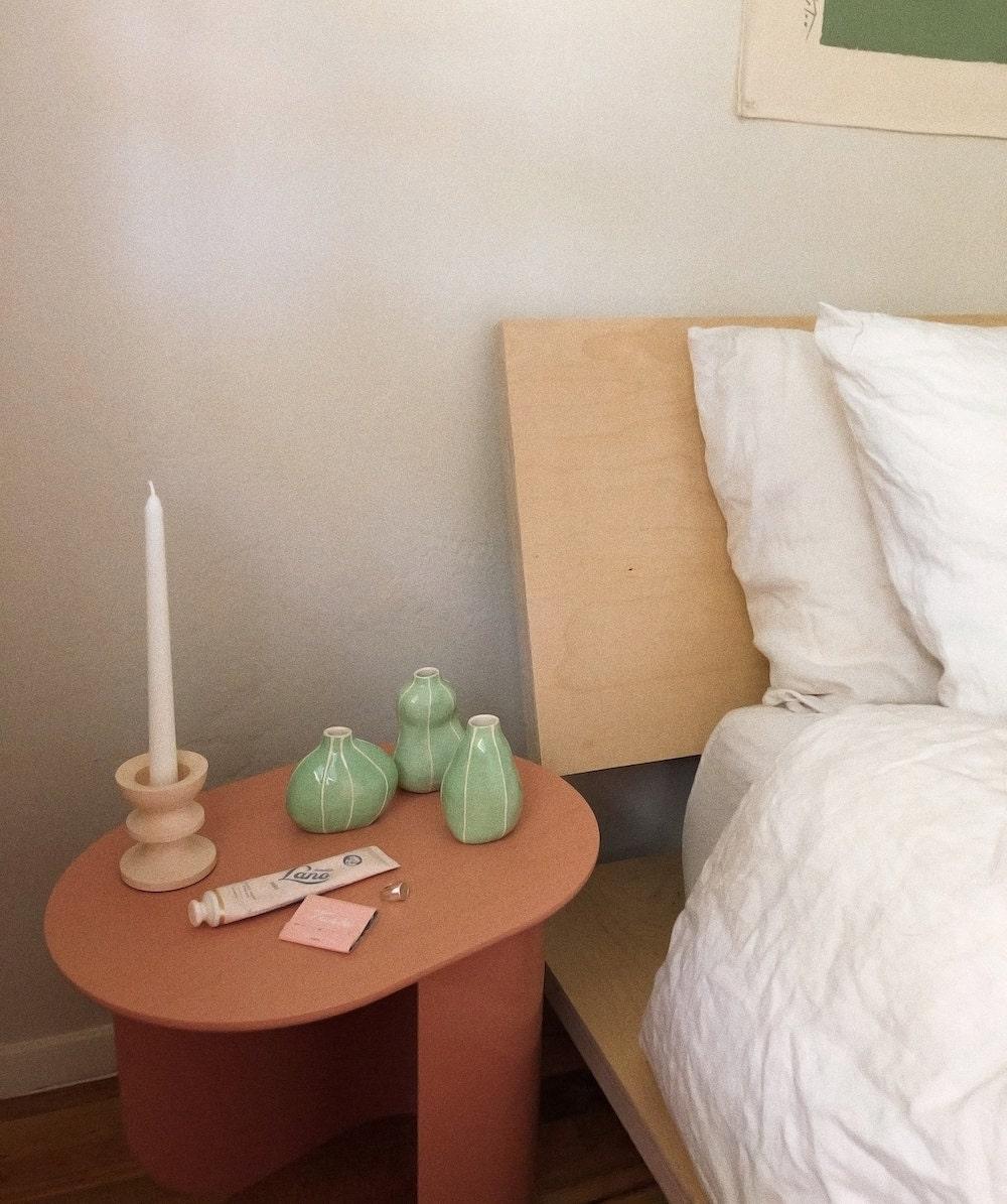Tonya's bedroom nightstand