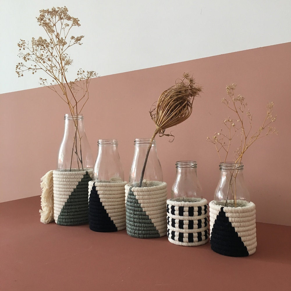 Fiber art vases from Etsy seller Studionom