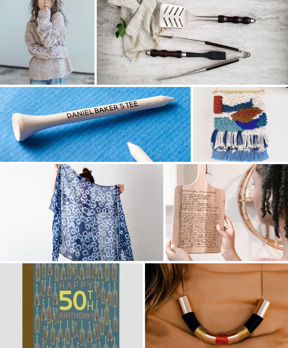 Unique 50th birthday gift ideas from Etsy