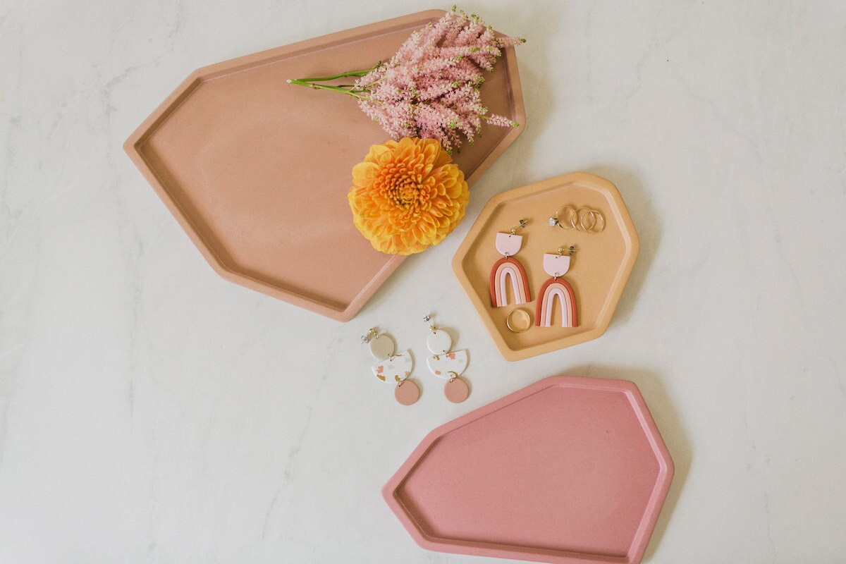 Ceramic tray trio from the A Beautiful Mess x Etsy collection