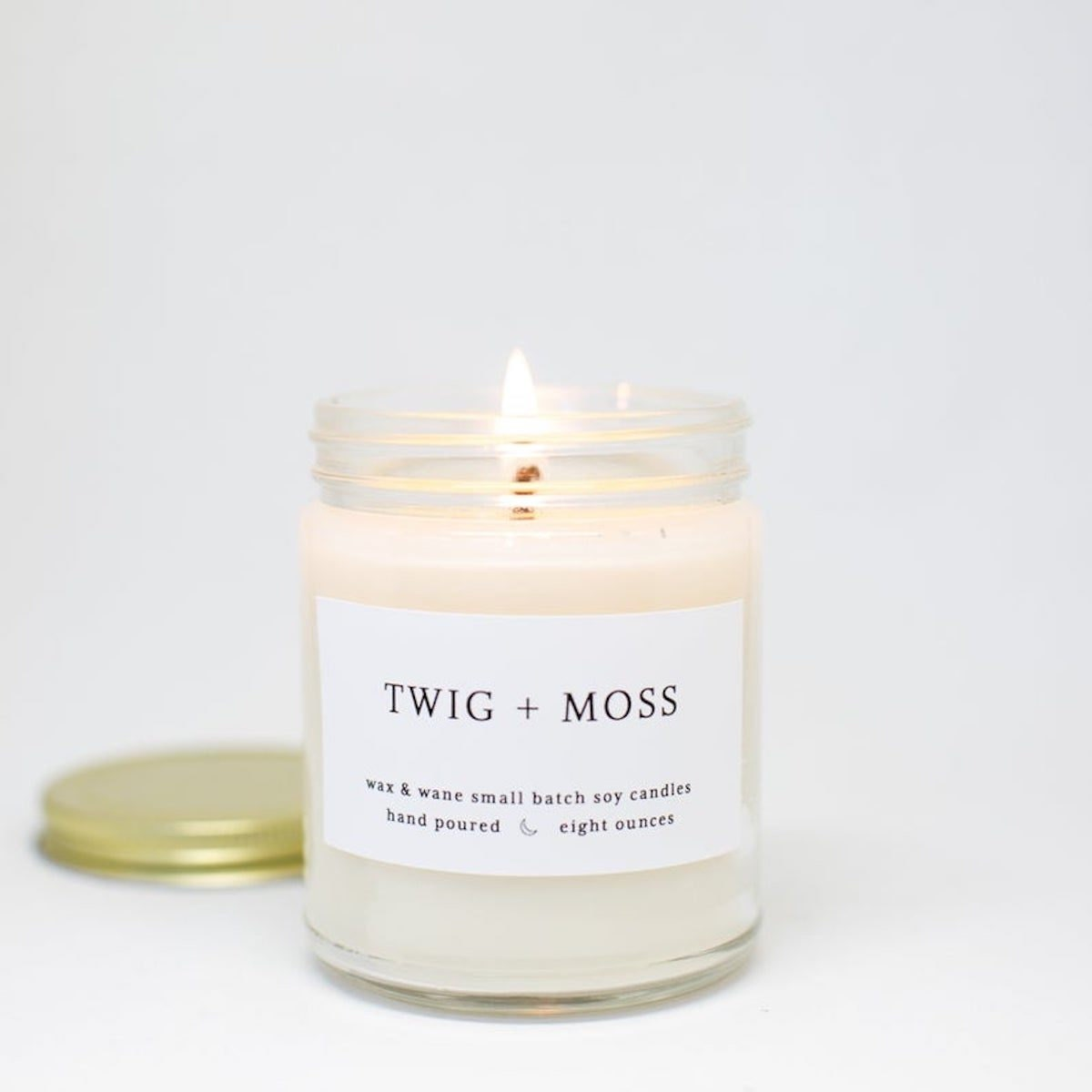 Twig + Moss candle from Wax and Wane on Etsy
