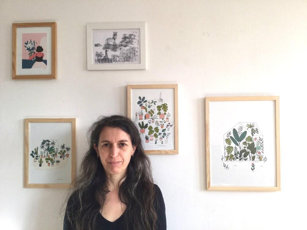 Portrait of Yolande Six, the illustrator behind paper goods shop Mademoiselleyo