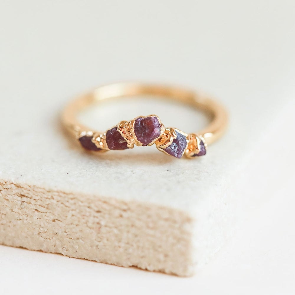Raw stone ruby ring from Dani Barbe