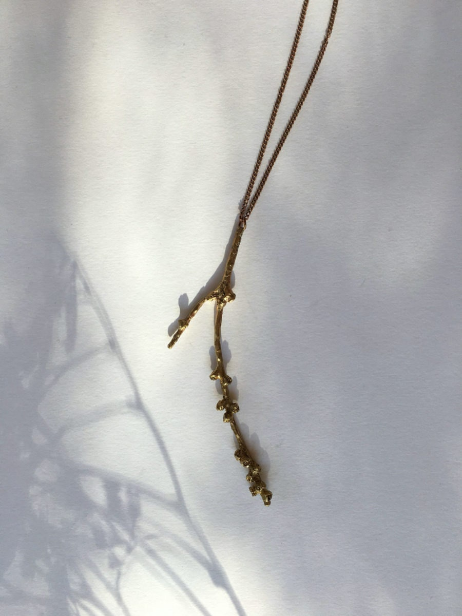 A brass branch necklace from Mai Solorzano