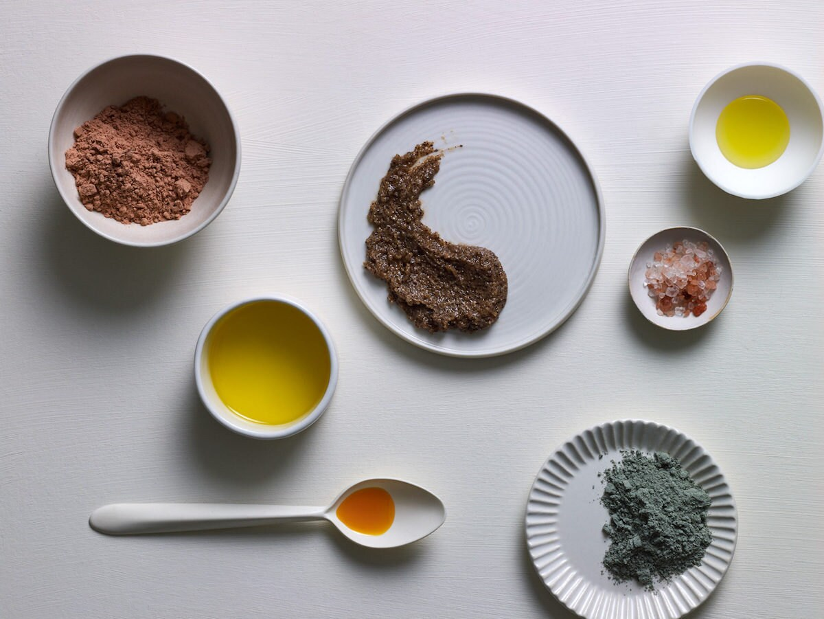 Assorted Palermo Body products on display in bowls and on plates