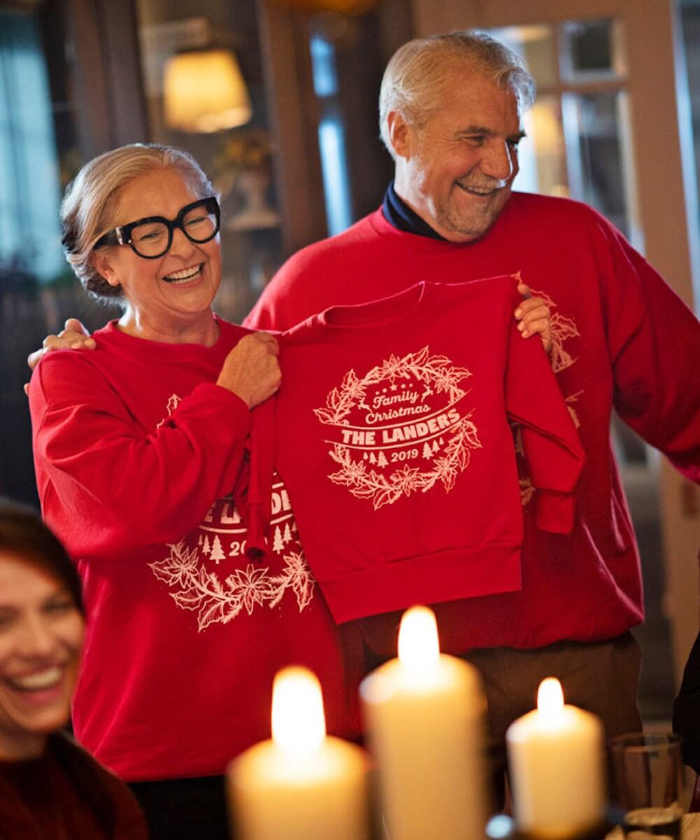 Custom family sweatshirts from Customize Fast on Etsy