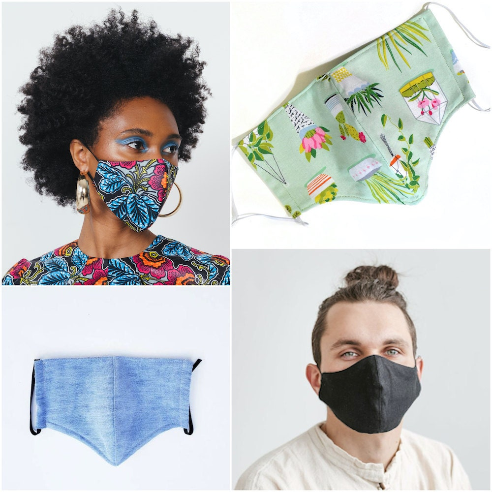 Stylish face masks from Etsy